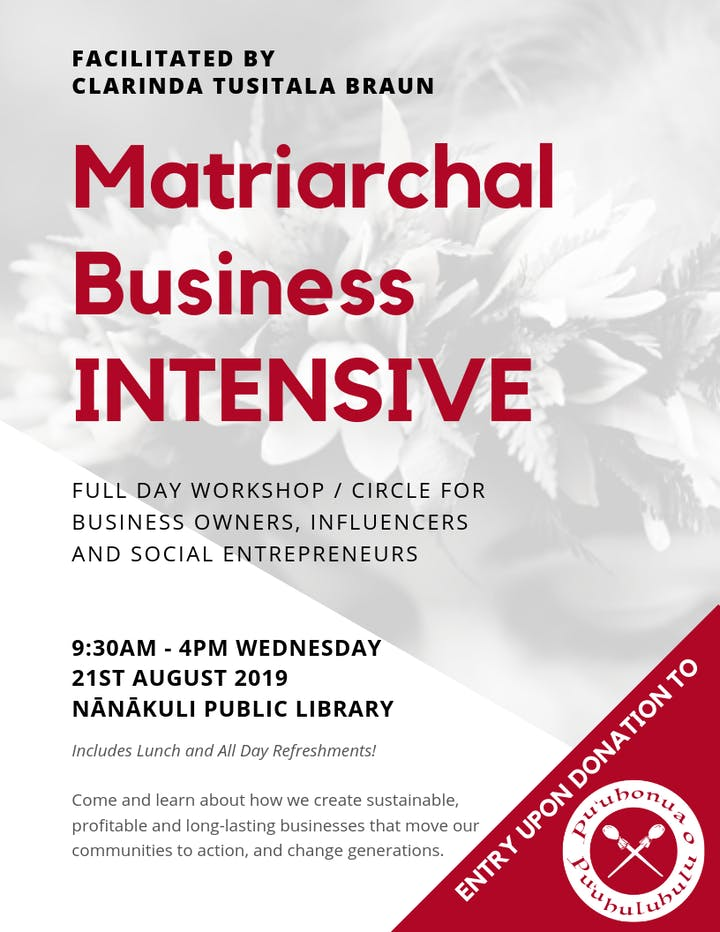 The Matriarchal Business INTENSIVE Tickets, Wed, Aug 21, 2019 at 9