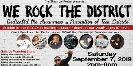 """""""We Rock the District"""" for the Awareness and Prevention of Teen Suicide tickets"""