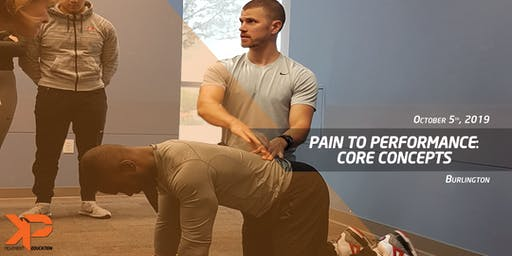 Pain to Performance: Core Concepts (Burlington)