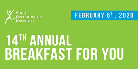 14th Annual Breakfast for YOU tickets