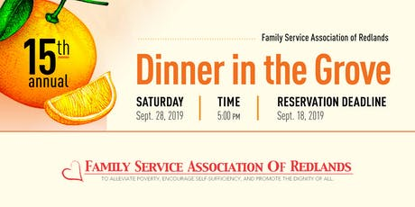 15th Annual Dinner in the Grove tickets