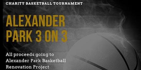 Alexander Park 3vs3 Basketball Tournament $500 Grand Prize tickets