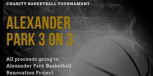 Alexander Park 3vs3 Basketball Tournament $500 Grand Prize