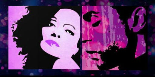 DIANNA ROSS vs PRINCE Music Tribute SIP N PAINT