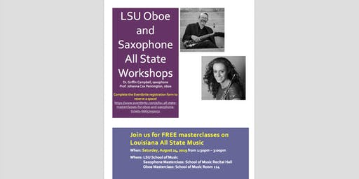 LSU All State Masterclasses for Oboe and Saxophone