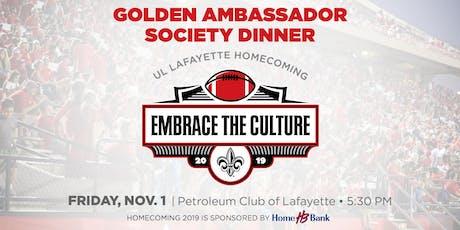 Golden Ambassador Society Dinner tickets