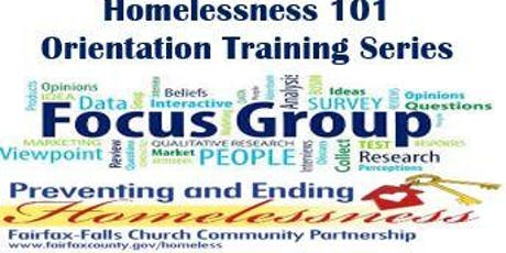 Homelessness 101 Training Series - Focus Group  tickets