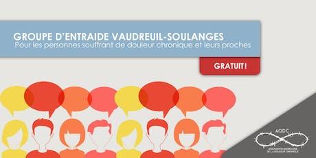 AQDC : Groupe d'entraide Vaudreuil-Soulanges - 25 septembre 2019 tickets