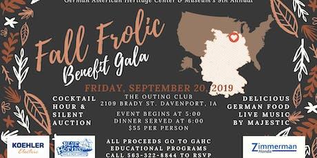 9th Annual Fall Frolic Benefit Gala tickets
