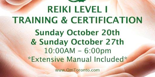 Reiki Level I: Training & Certification