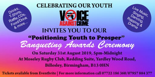 Positioning Youth To Prosper Banqueting Awards Ceremony (limited tickets)