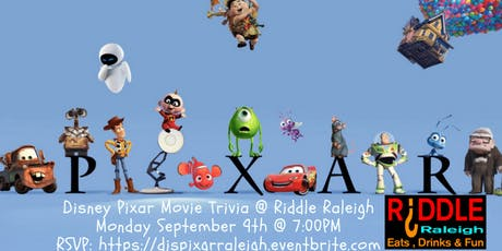 Disney Pixar Movie Trivia at Riddle Raleigh tickets