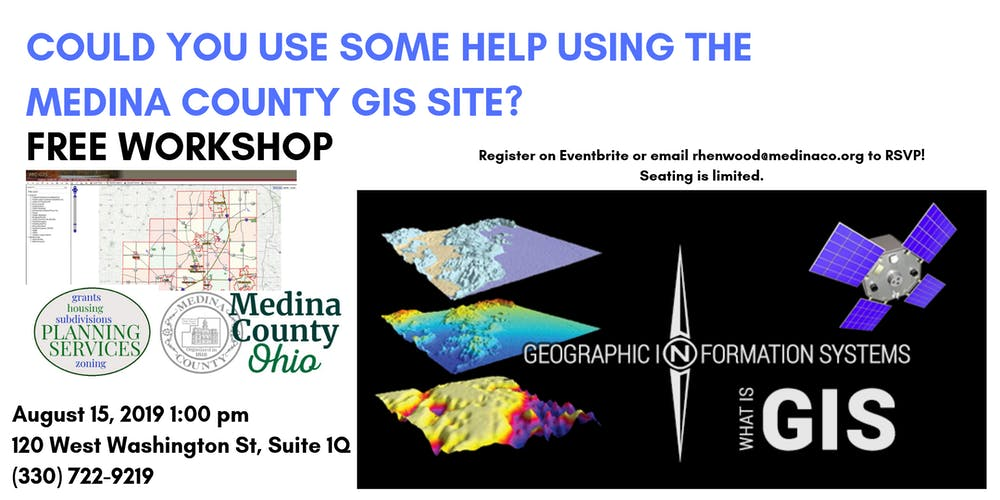 Medina County GIS Workshop Tickets, Thu, Aug 15, 2019 at 1:00 PM