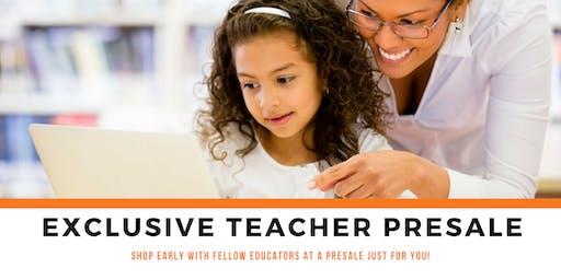 TEACHER PRESALE at TINY TOTS MEGA-POP UP-EVENT Fall 2019