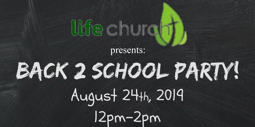 Back to School Party-Backpack Giveaway
