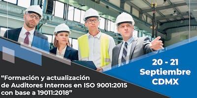 Curso Formación de Auditores con base a la Norma ISO 19011:2018 - CDMX
