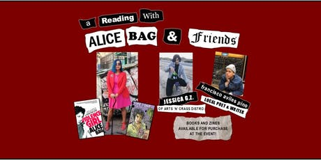 Live Readings with Alice Bag, Jessica G.Z. & francisco aviles pino Jr. at Central Library tickets