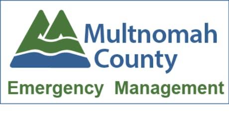 Multnomah County Emergency Management TIM Training tickets