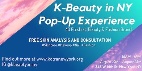 K-Beauty in NY Pop-Up  Experience tickets