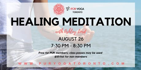 Healing Meditation with Ashley Lord  tickets