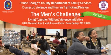 The Men's Callenge Initative- Living Together Without Violence Fall Edition  tickets