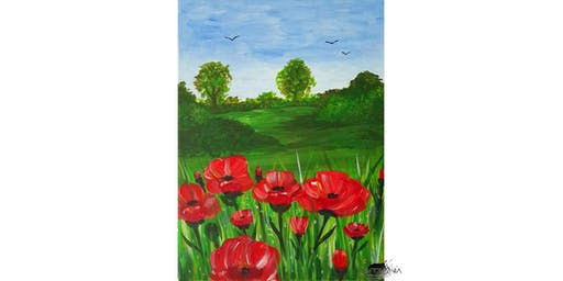 """PAINTOMANIA malt """"Poppies"""" in Hannover"""