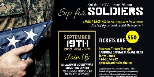 Sip for Soldiers (3rd Annual Wine Tasting Fundraiser for Veterans)