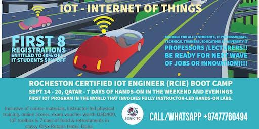ROCHESTON Certified IoT Engineer (RCIE) by SONIC TC & ROCHESTON, New York