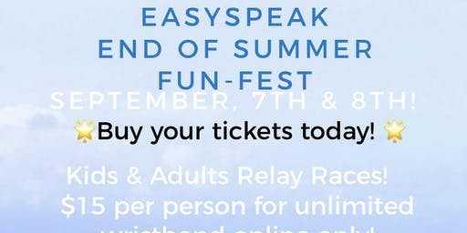 easySpeak end of summer fun fest