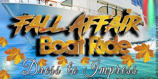MARK PROMOTION PRESENTS : FALL AFFAIR BOAT RIDE 2019 !