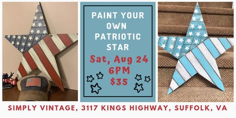 Paint Your Own Patriotic Star with Dixie Belle tickets