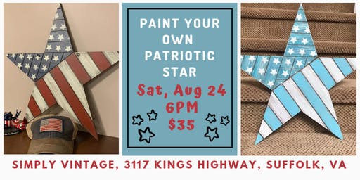 Paint Your Own Patriotic Star with Dixie Belle