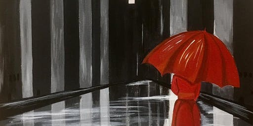 CANVAS CLASS: The Red Umbrella Adult Paint & Sip