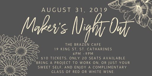 Maker's Night Out - Small Business Networking and Wine