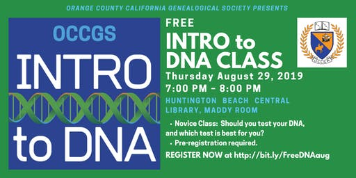 Free Intro to DNA Class from OCCGS