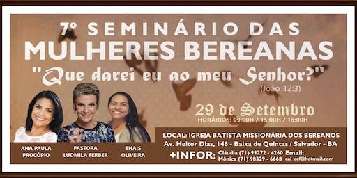 7º Seminário das Mulheres Bereanas 2019