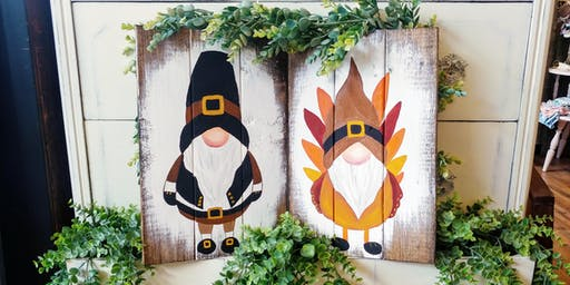 SOLD OUT - Turkey / Pilgrim Gnome Paint Night