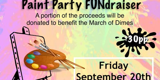 ArtWorx Events Paint Party FUNdraiser for March of Dimes