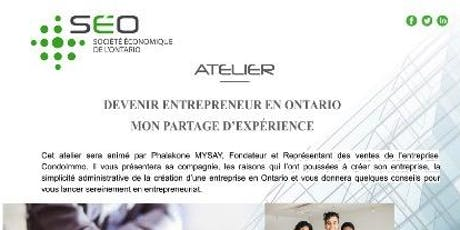 Devenir entrepreneur en Ontario : Mon partage d'expérience billets
