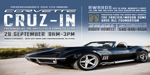 The 11th Annual Battlefield Corvette Club All Corvette Cruz-In Car Show