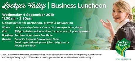 Lockyer Valley Business Lunch  tickets