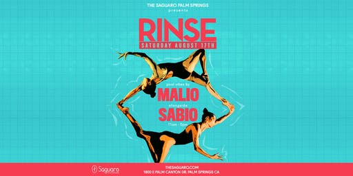 """The Saguaro Palm Springs presents """"RINSE"""" Pool Party"""