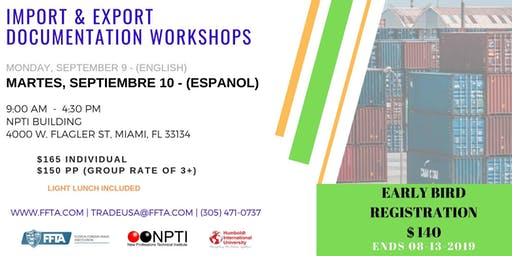 Seminario: Documentos en las Exportaciones & Importaciones en los EE.UU.