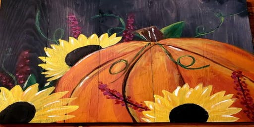 Pumpkin Pallet Paint Party  $35.00