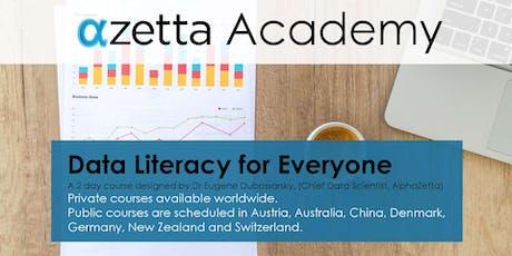 Data Literacy for Everyone - Zurich tickets