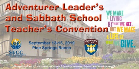 Adventurer Leader's and Sabbath School Teacher's Convention 2019 tickets