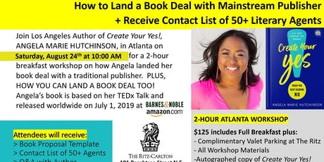 How to Land a Book Deal with Mainstream Publisher + List of Literary Agents tickets
