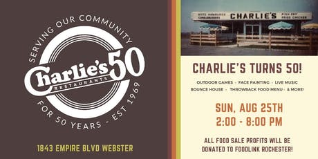 Charlie's Restaurants 50th Anniversary Party tickets