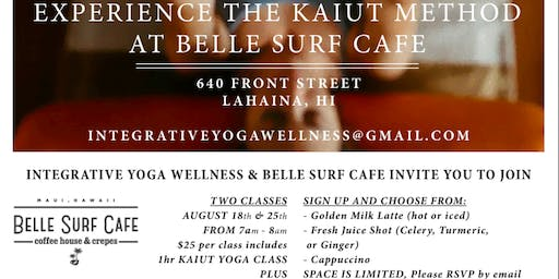 Kaiut Yoga and Coffee at Belle Surf Cafe Lahaina Maui