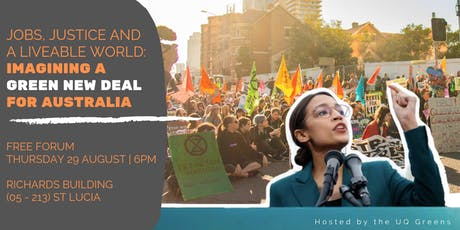 Jobs, Justice and a Liveable World: a Green New Deal for Australia tickets